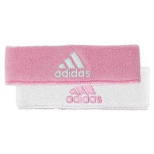 Interval Reversible Tennis Headband Pink and White