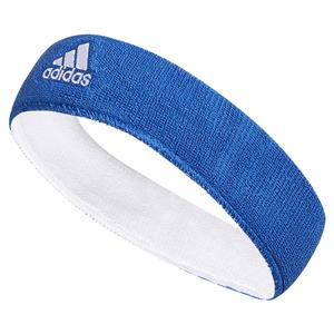 Interval Reversible Tennis Headband Blue and White