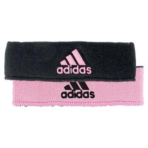 Interval Reversible Tennis Headband Black and Pink