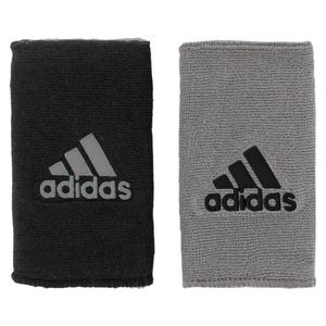 Interval Large Reversible Tennis Wristband Gray and Black