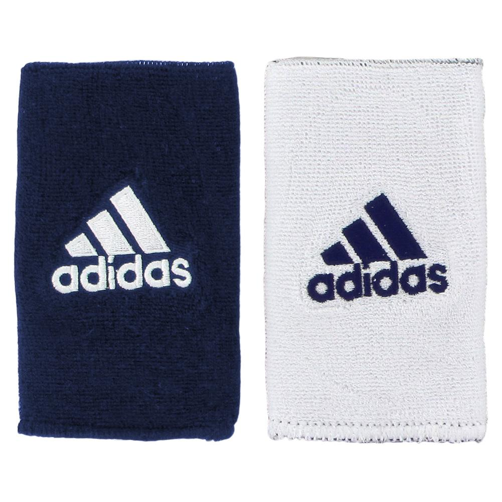 Interval Large Reversible Tennis Wristband Navy And White