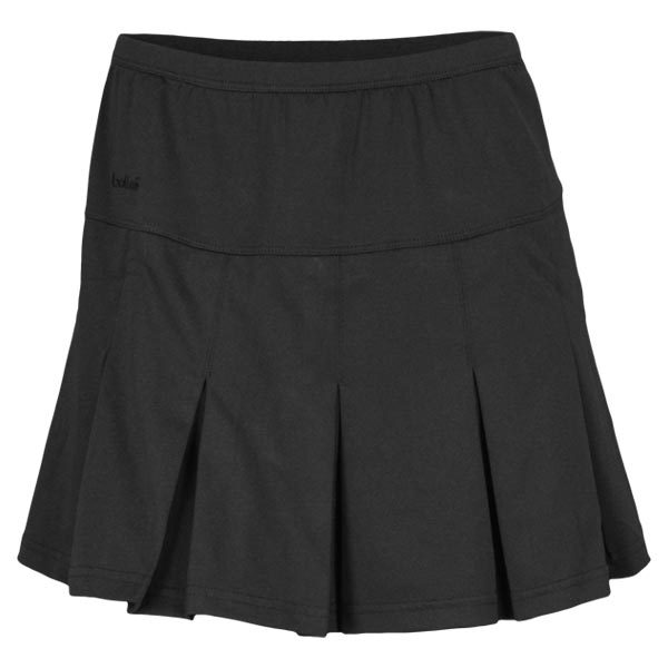 Women's Pleated Pull On Tennis Skort Black