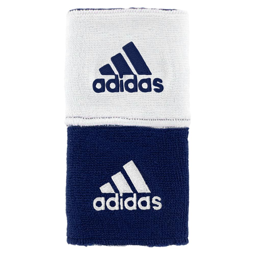 Interval Reversible Tennis Wristband Navy And White