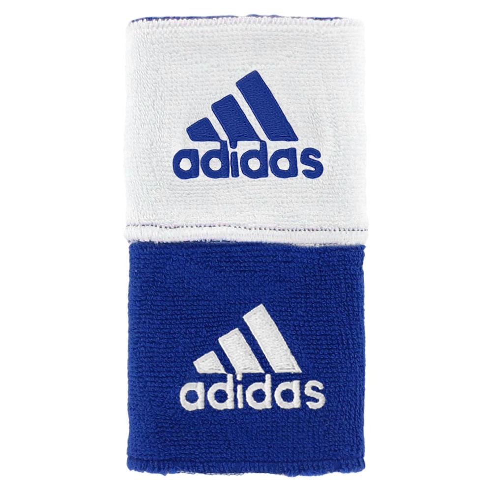 Interval Reversible Tennis Wristband Blue and White