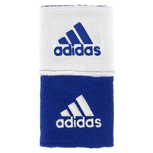 adidas INTERVAL REVERSIBLE TENNIS WRSTBND BL/WH