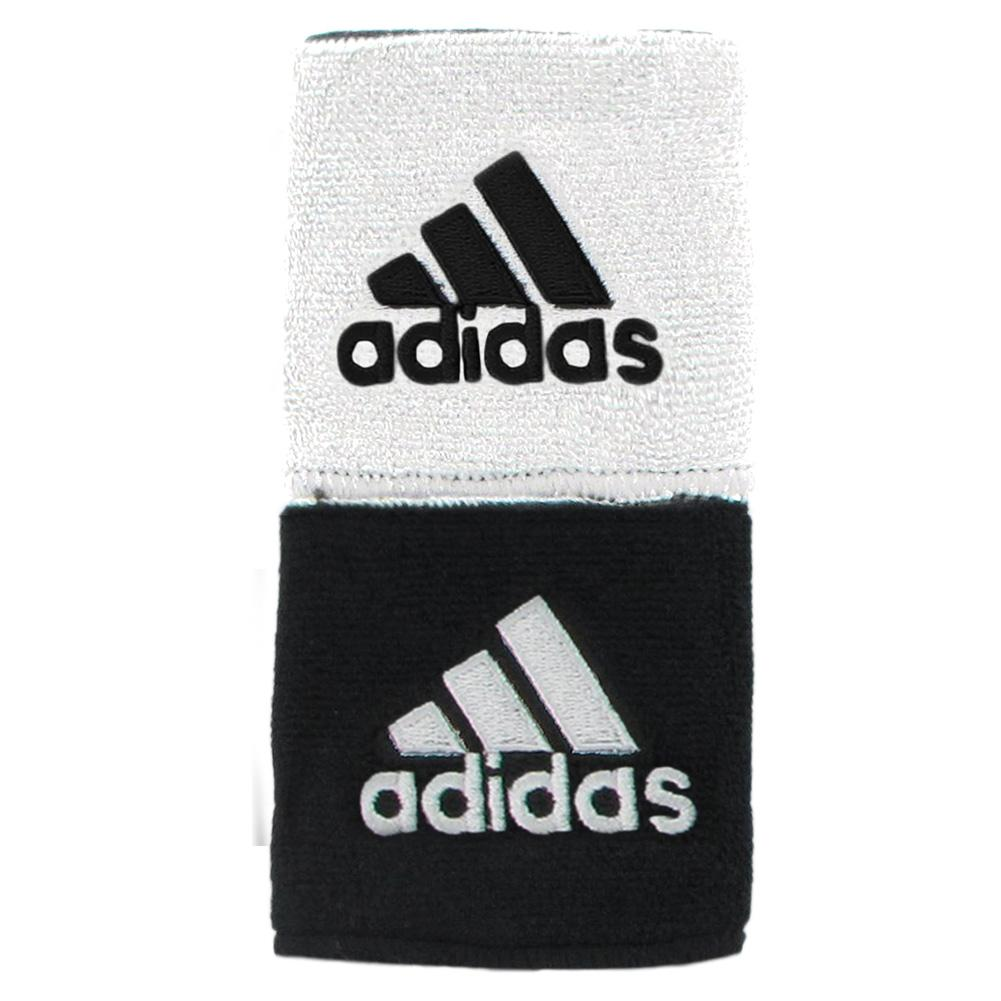Interval Reversible Tennis Wristband Black And White