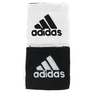 adidas INTERVAL REVERSIBLE TENNIS WRSTBND BK/WH