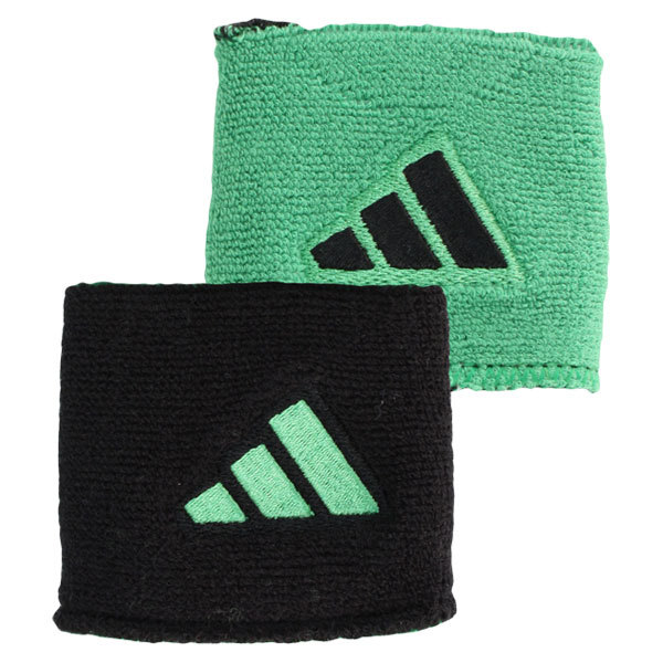 Interval Reversible Tennis Wristband Green And Black