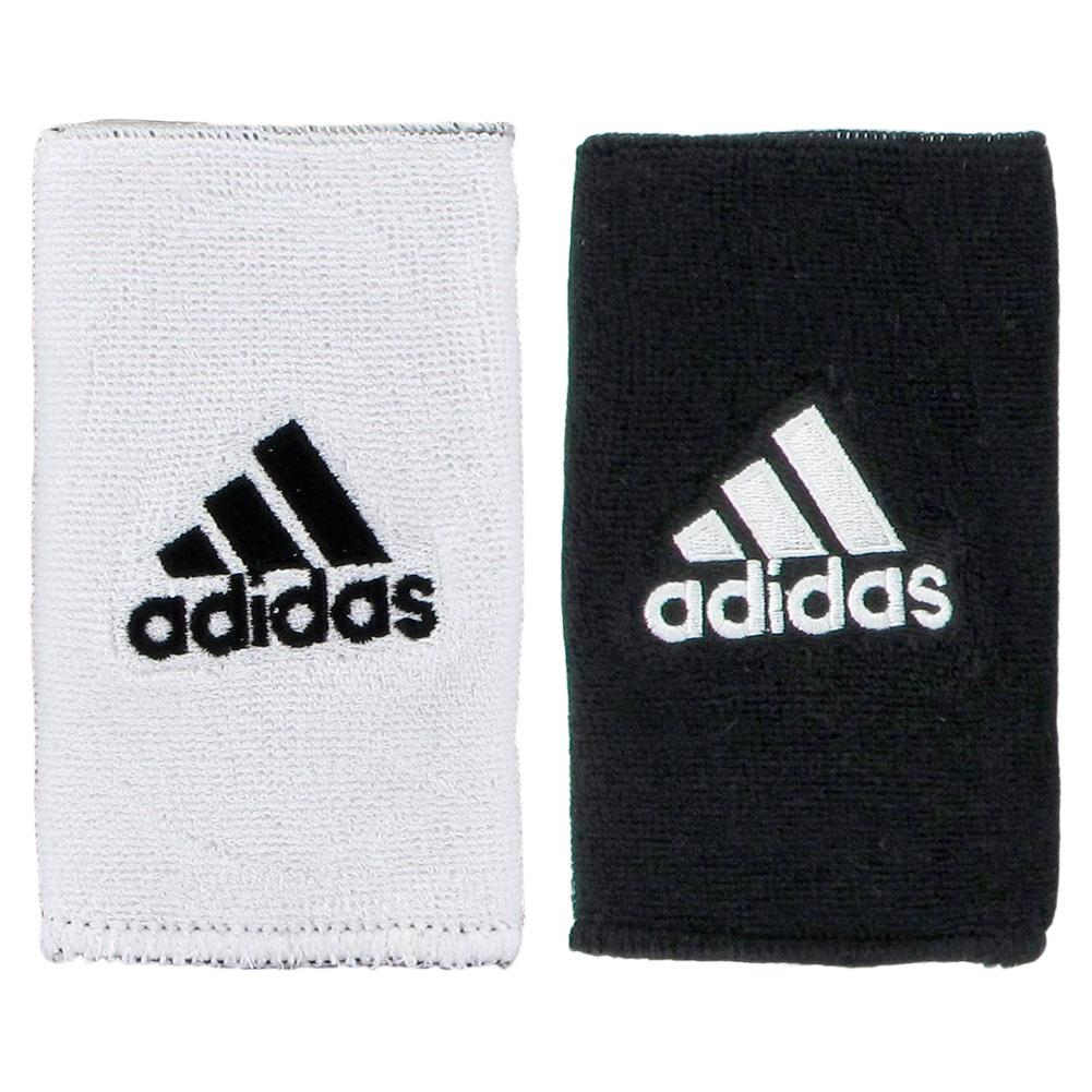 Interval Large Reversible Tennis Wristband Black And White