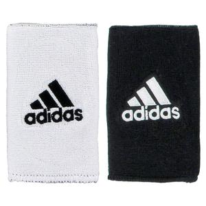 adidas INTERVAL LARGE REVERSIBLE WRSTBND BK/WH