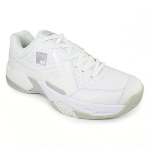 FILA WOMENS R8 WHITE/SILVER TENNIS SHOES