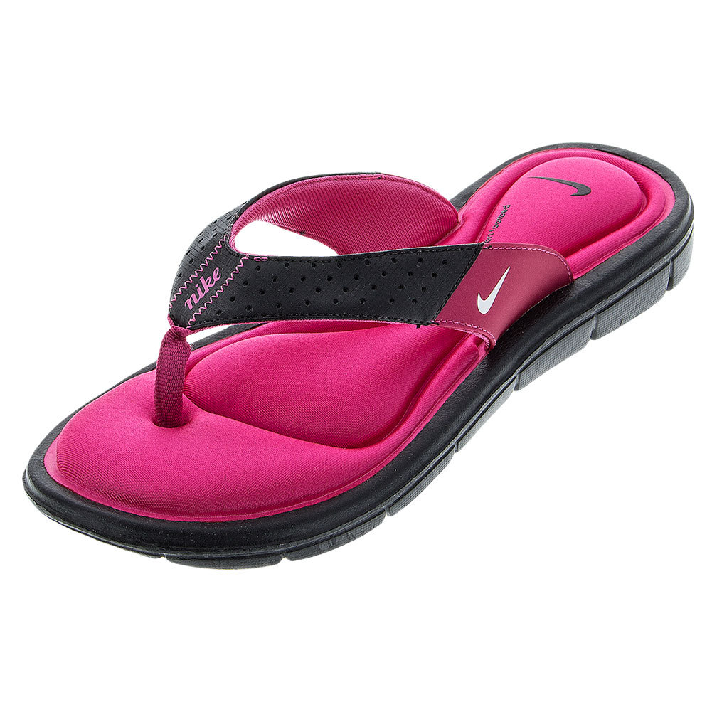 Women's Comfort Thong Black/Bright Pink