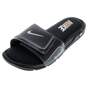 Men`s Comfort Slide 2 Black and Metallic Silver