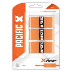 PACIFIC XTR GRIP 3 PACK ORANGE TENNIS OVERGRIP