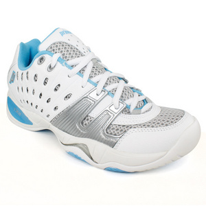 PRINCE WOMENS T22 WHITE TURQUOISE TENNIS SHOES