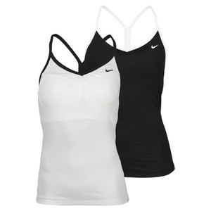 NIKE WOMENS BORDER STRAPPY TENNIS TANK