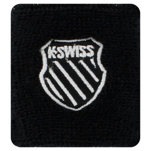 K-SWISS 3 INCH BLACK TENNIS WRISTBANDS