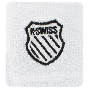 K-SWISS 3 INCH WHITE TENNIS WRISTBANDS