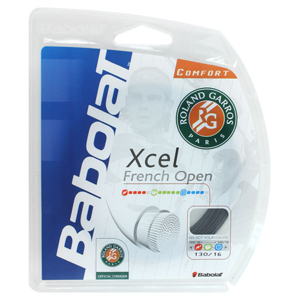 Xcel French Open 16g Black Tennis String