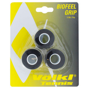 VOLKL BIOFEEL 3 PACK BLACK TENNIS OVERGRIP