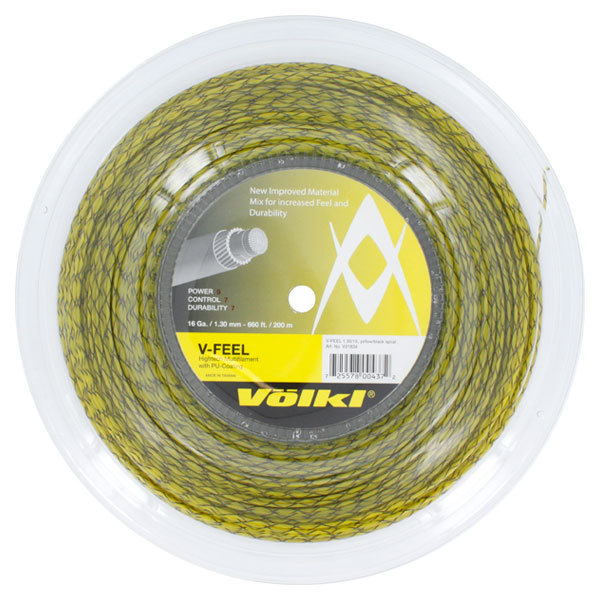 V- Feel Yellow Black Spiral 16g Reel Tennis String