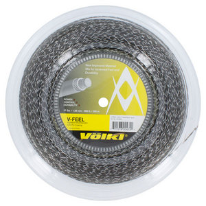 V-Feel Black Silver Spiral 17G Reel Tennis String