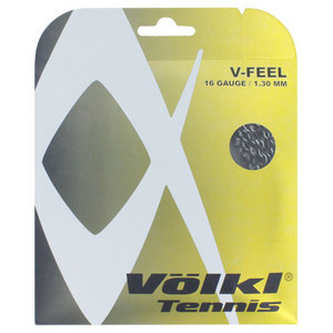 V-Feel Black Silver Spiral 16G Tennis String