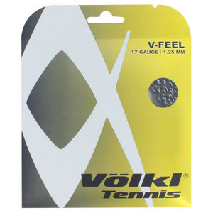 V-Feel Black Silver Spiral 17G Tennis String