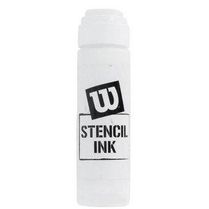 WILSON WHITE TENNIS RACQUET STENCIL INK