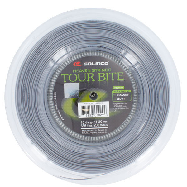 Tour Bite 16g 1.30mm Reel Tennis String Silver