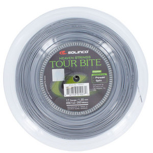 Tour Bite 17G 1.20MM Reel Tennis String Silver