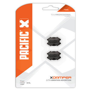 PACIFIC CROSS TENNIS DAMPER 2 PACK BLACK