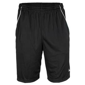 Men`s Basic Bermuda Tennis Short Black/White