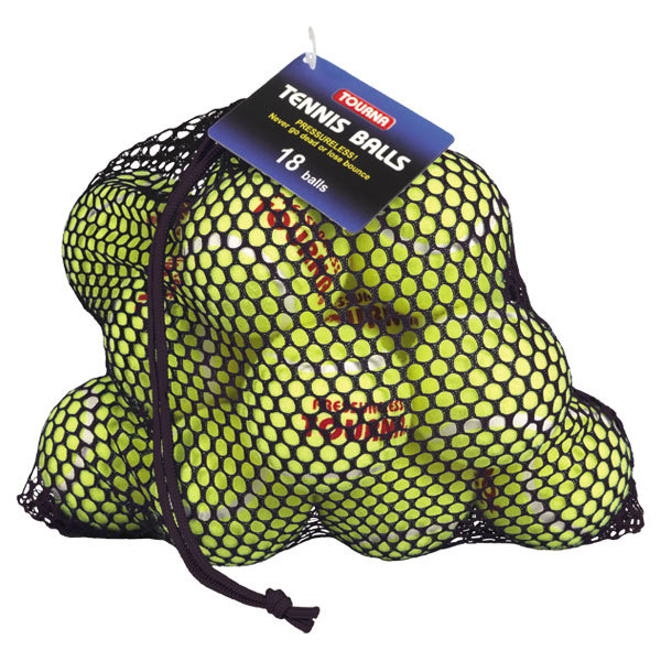 Pressureless 18 Pack Mesh Bag Tennis Balls