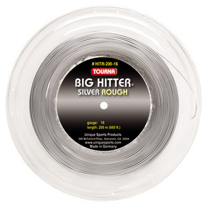 Big Hitter Silver Rough 16G Reel Tennis String