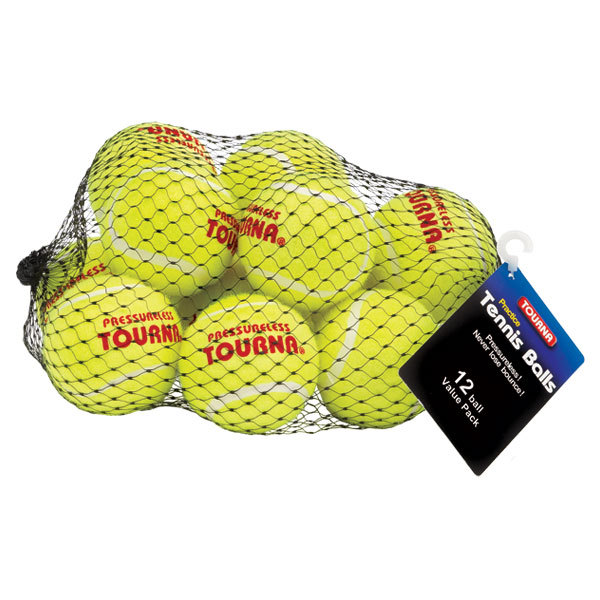 Pressureless 12 Pack Mesh Bag Tennis Balls