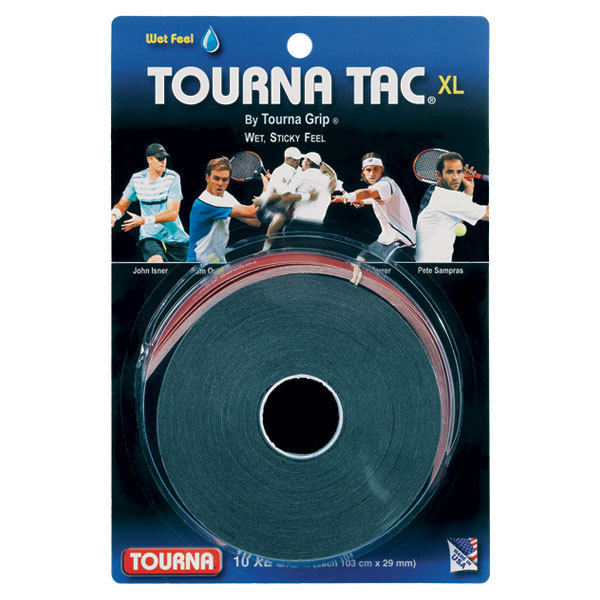 Tourna Tac Xl 10 Pack Black Tennis Overgrip