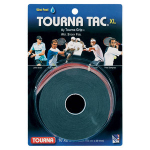 TOURNA TOURNA TAC XL 10 PK BLACK OVERGRIP