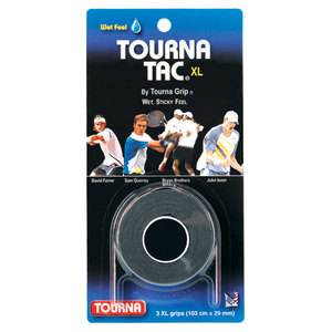 TOURNA TOURNA TAC XL 3 PK BLACK TENNIS OVERGRIP