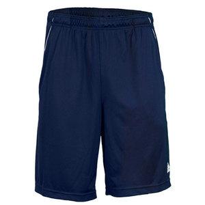 Men`s Basic Bermuda Tennis Short Collegiate Navy/White