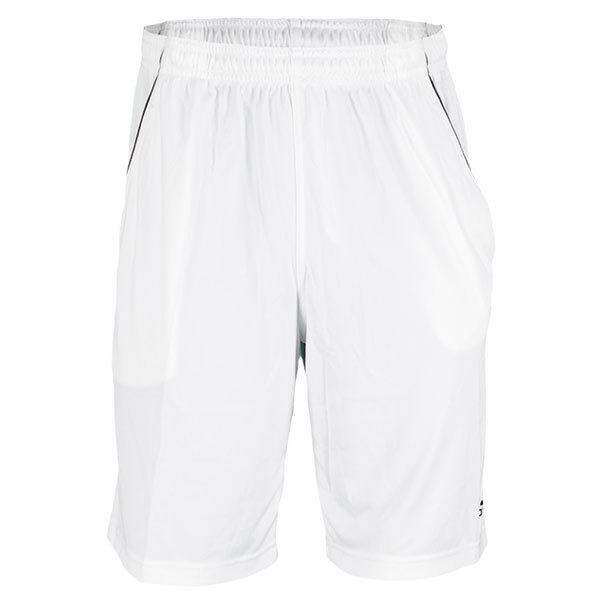 Men's Basic Bermuda Tennis Short White/Black