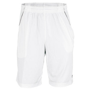 Men`s Basic Bermuda Tennis Short White/Black