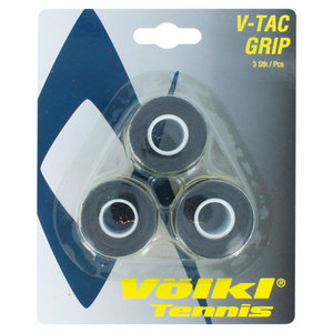 V-Tac 3 Pack Black Tennis Overgrip