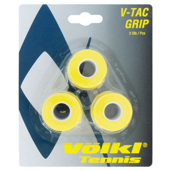 V- Tac 3 Pack Yellow Tennis Overgrip