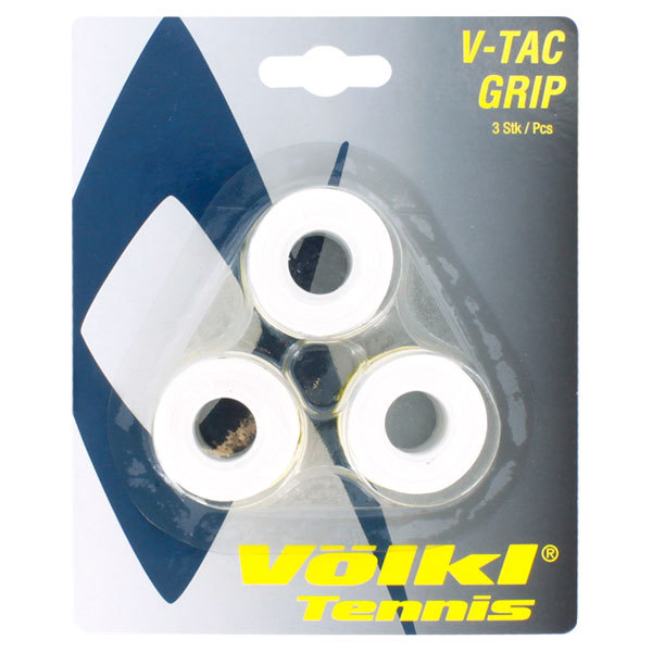 V- Tac 3 Pack White Tennis Overgrip