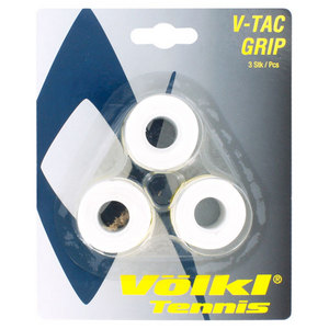 VOLKL V-TAC 3 PACK WHITE TENNIS OVERGRIP