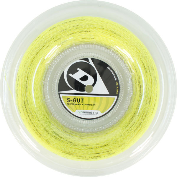 S- Gut 17g Yellow Tennis String Reel