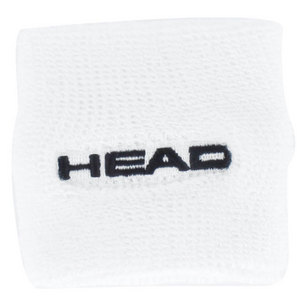 HEAD 2.5 INCH WHITE 2 PACK TENNIS WRISTBAND
