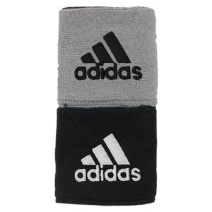 Interval Reversible Tennis Wristband Black and Gray