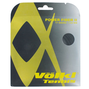 VOLKL POWER FIBER II 17G BLACK TENNIS STRING